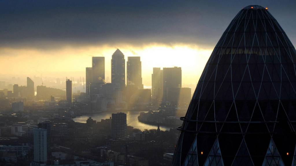 Gherkin and London's skyline