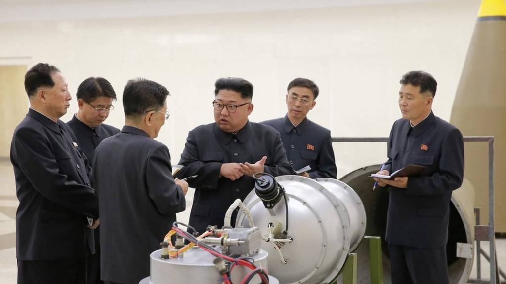 North Korean leader Kim Jong-un inspects nuclear bomb making institute