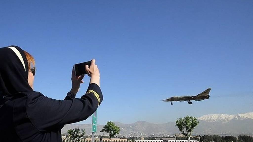 سوخو در آسمان تهران