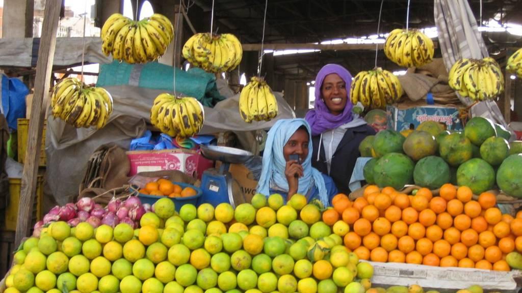 A fruit market in Eritrea