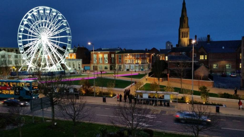 Panoramic view of Leicester