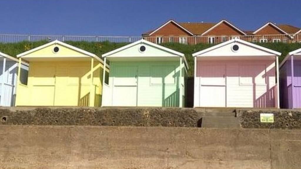 beach huts in Clacton