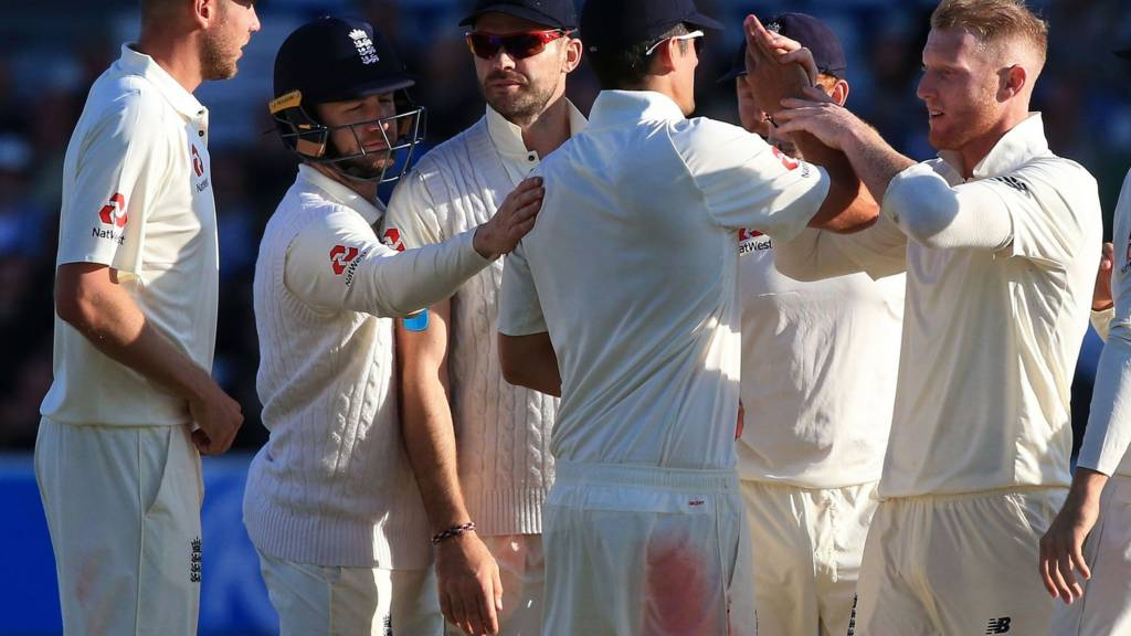 England celebrate the wicket of Roston Chase