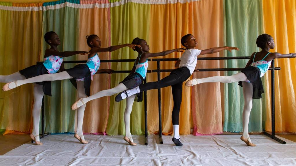 Students at Leap of Dance Academy in Ajangbadi, Lagos, on July 3, 2020