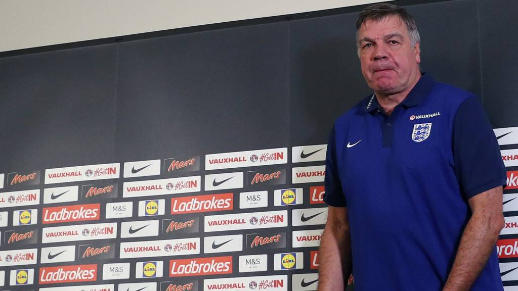 Sam Allardyce at his press conference