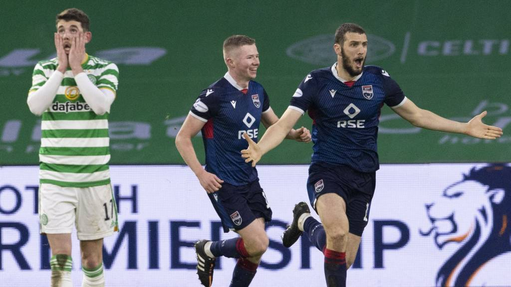 Scottish League Cup: Celtic 0-2 Ross County - Iacovitti heads in stunning  second - Live - BBC Sport