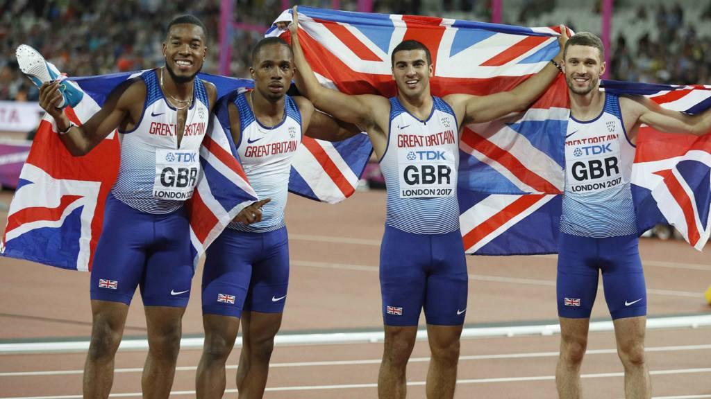 World athletics championships gb men win relay gold but - British basketball league table ...