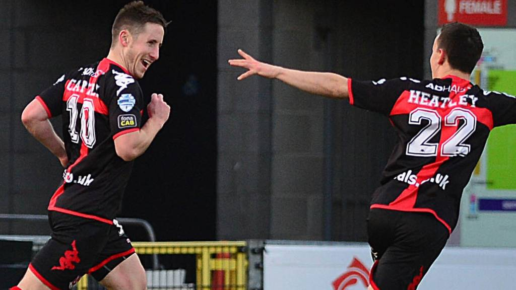 Michael Carvill put Crusaders into the lead against Cliftonville