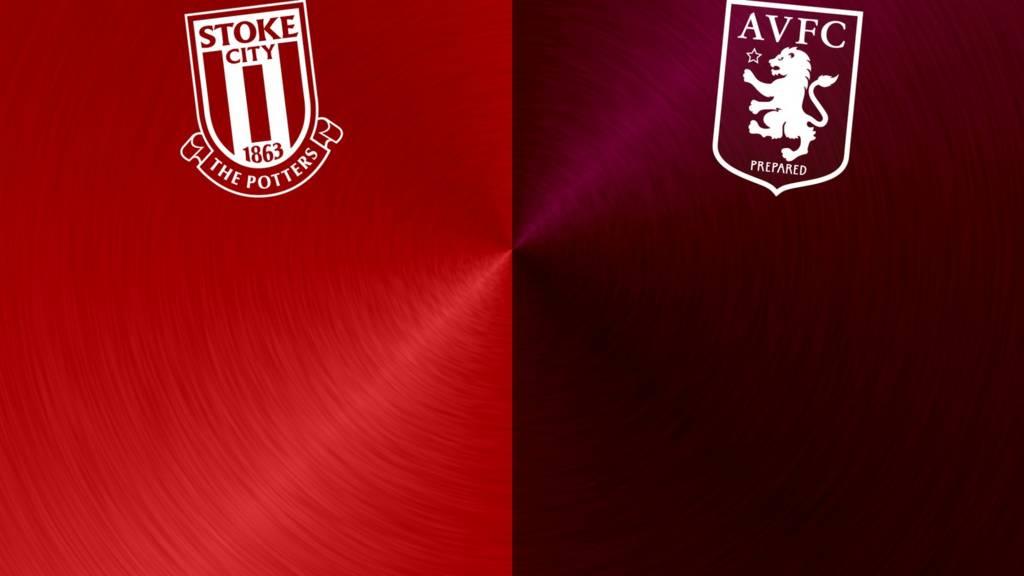 Stoke v Aston Villa badges
