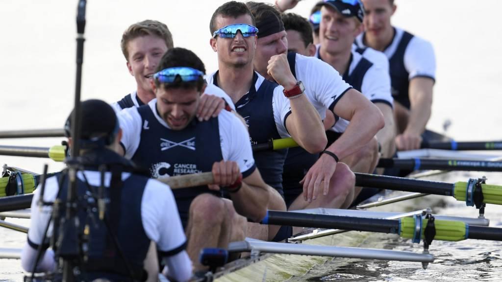 Oxford crew celebrate