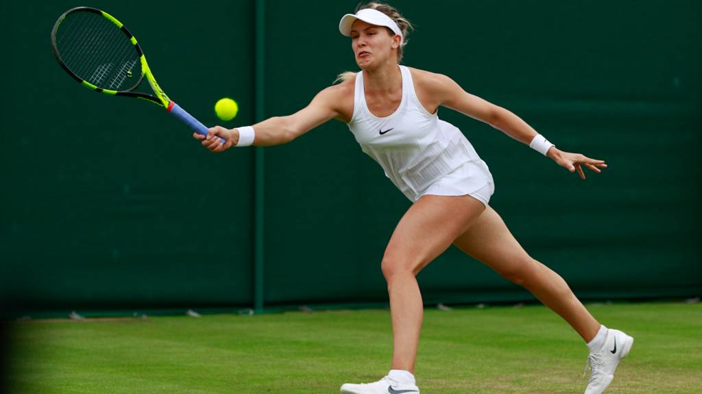 Eugenie Bouchard in action