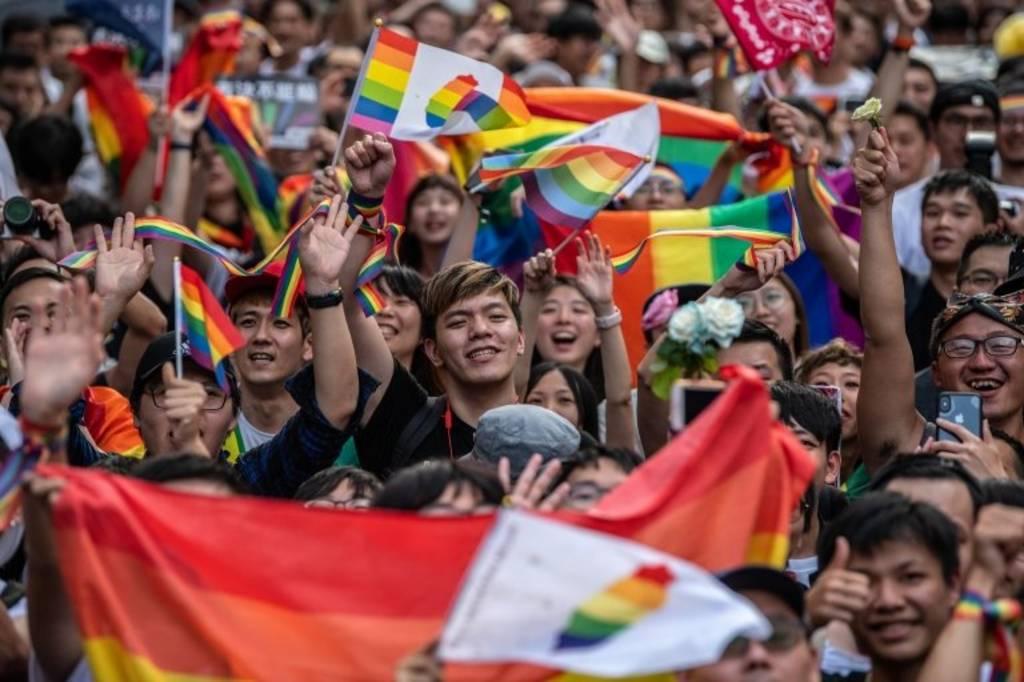 تظاهرات طرفداران ازدواج همجنسگرایان در تایوان