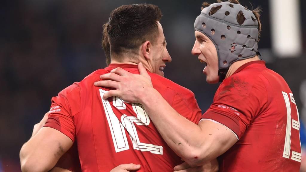 Wales Owen Watkin and Jonathan Davies