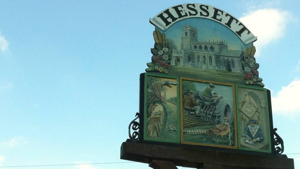 Hessett village sign