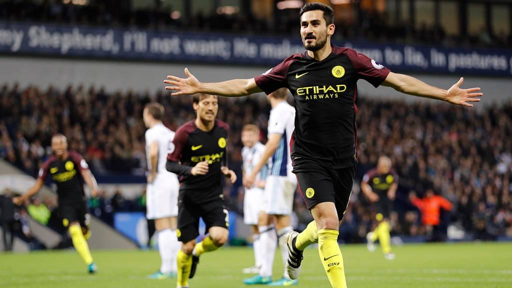 Gundogan celebrates for City