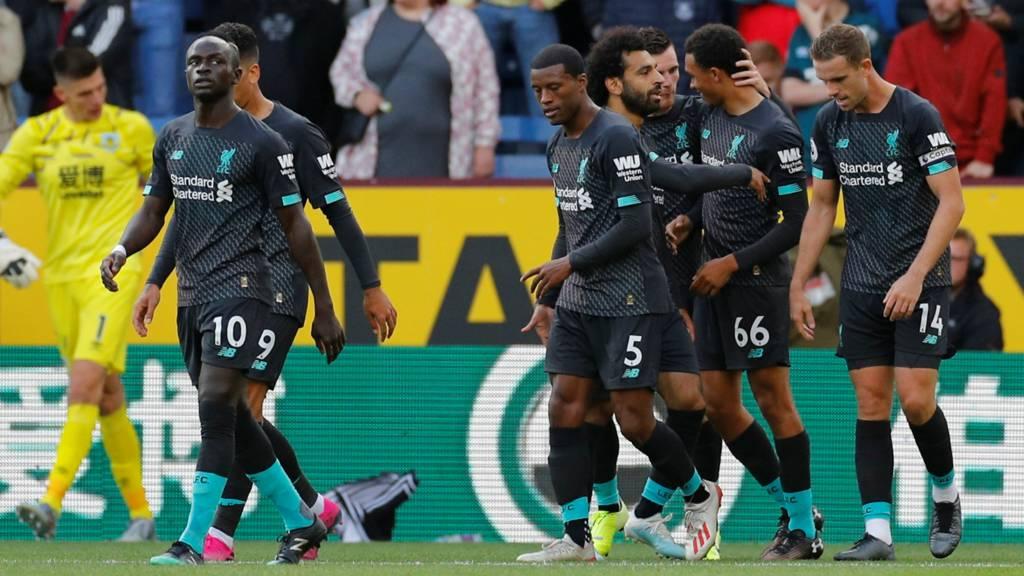Liverpool celebrate scoring
