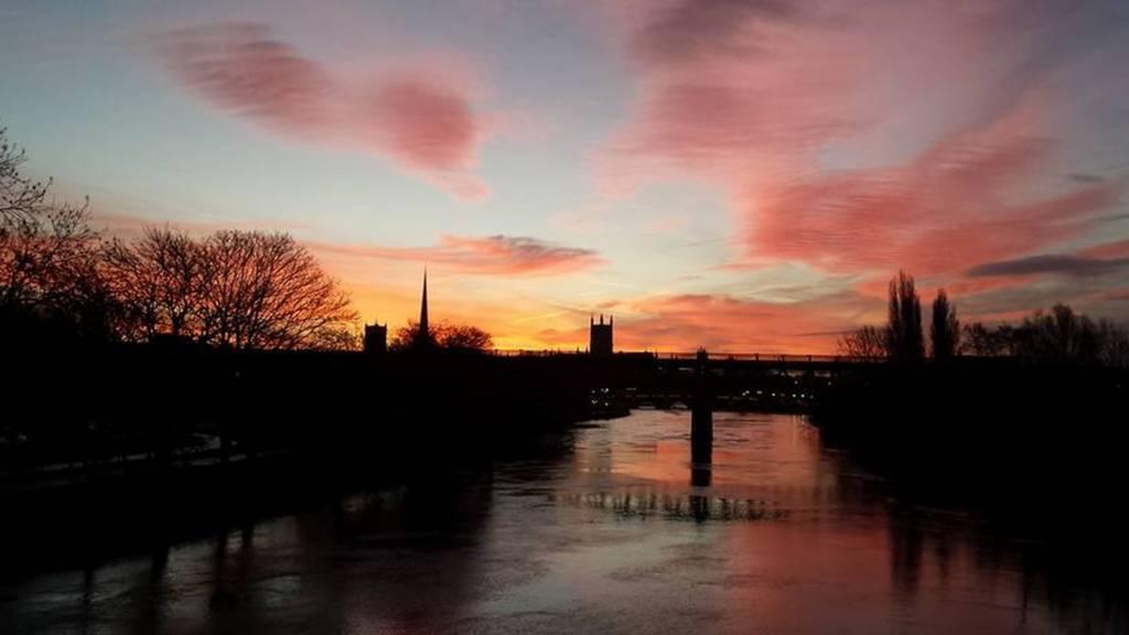 Sunrise over Worcester