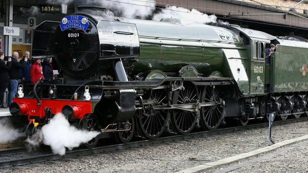 Flying Scotsman at York station