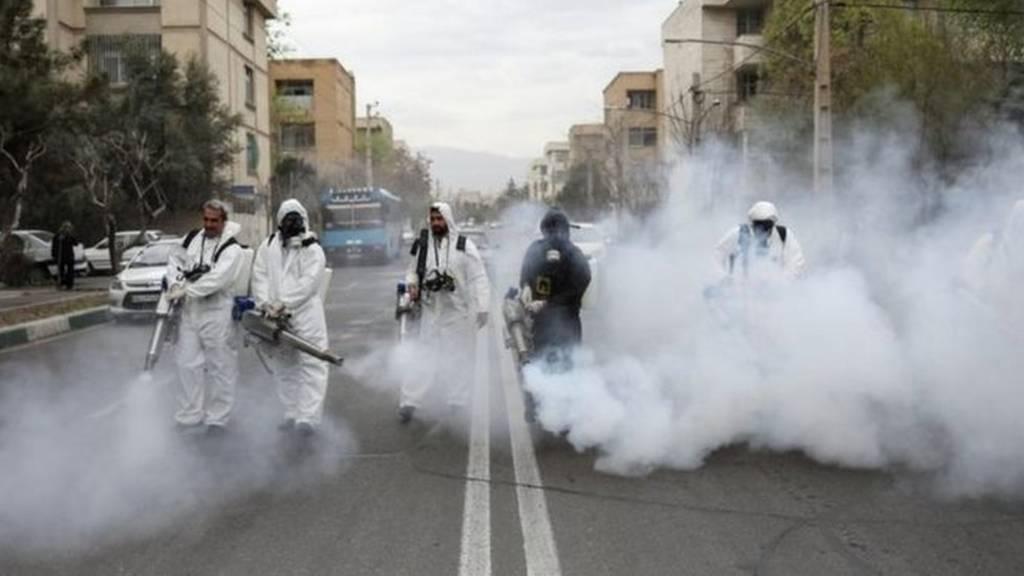 ضد عفونی کردن خیابانهای تهران