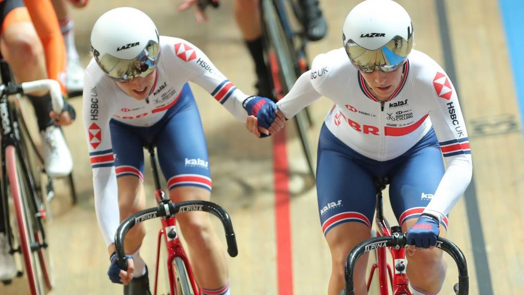 Great Britain's Elinor Barker and Neah Evans
