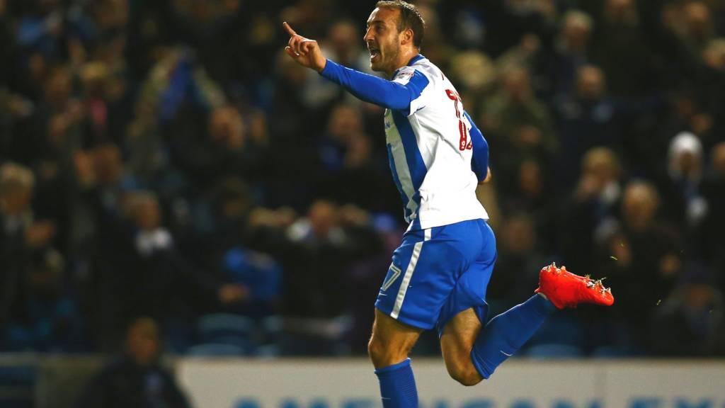 Glenn Murray celebrates goal against Aston Villa