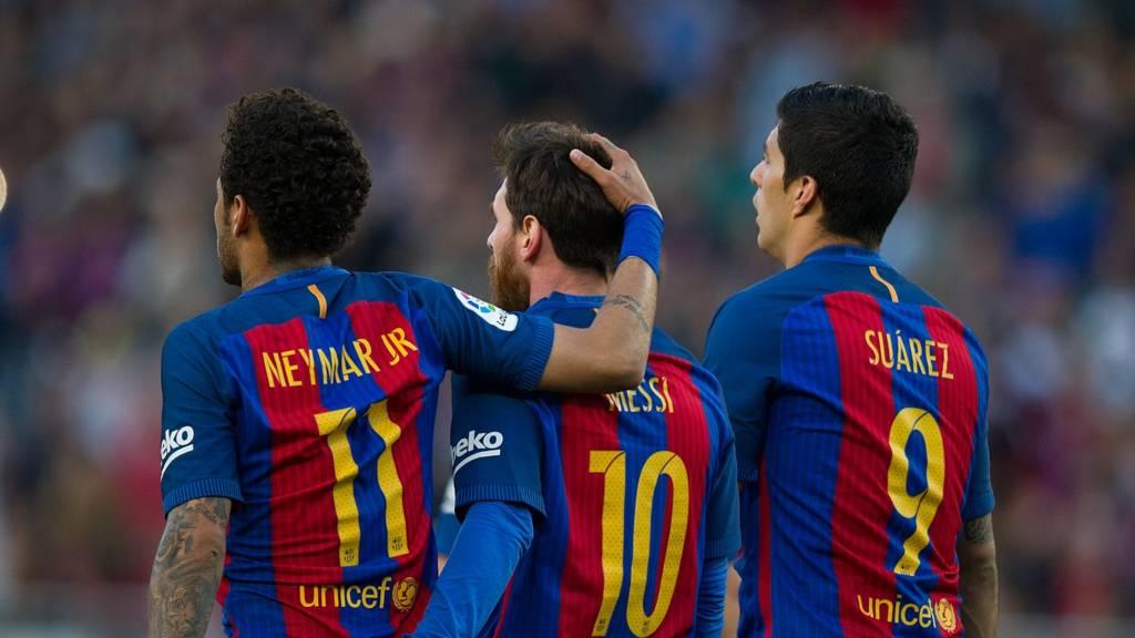 Neymar da Messi da Suarez