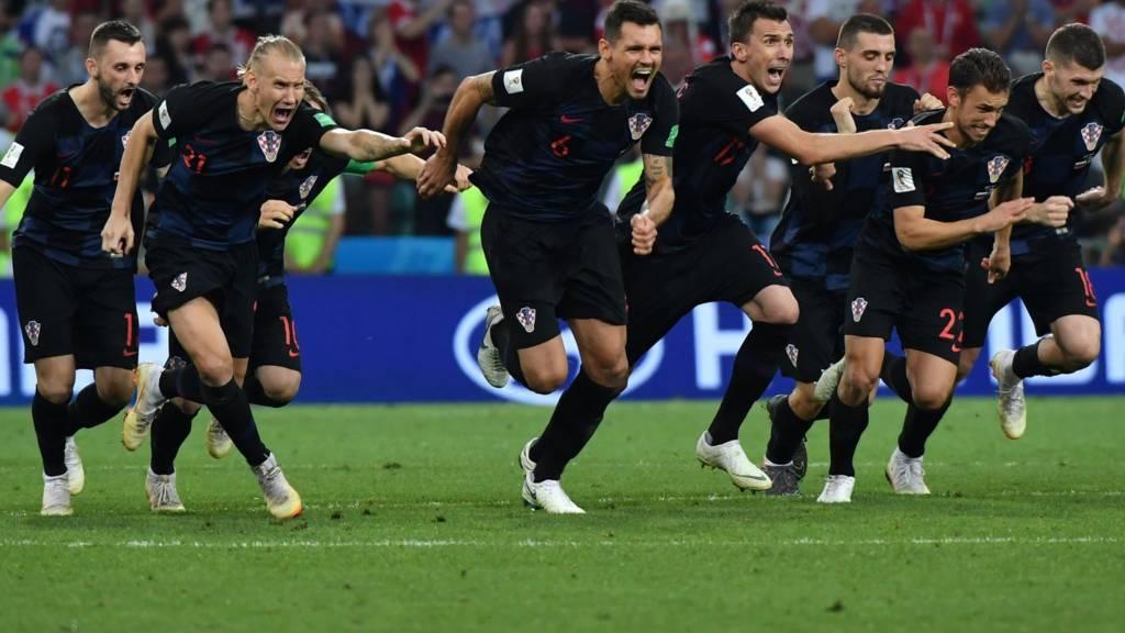 Croatia celebrate