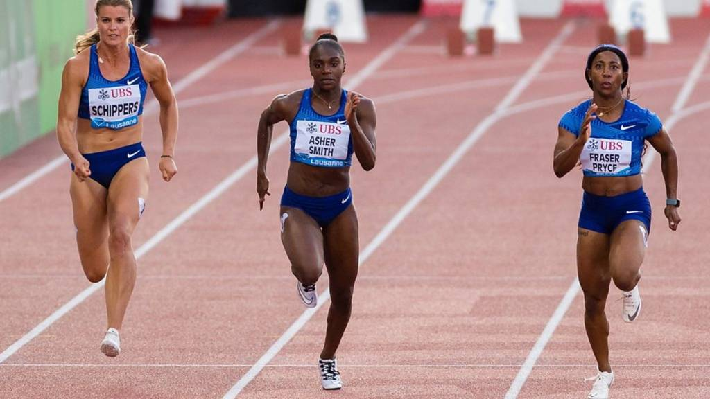 Dina Asher-Smith competes in Diamond League meeting, Lausanne