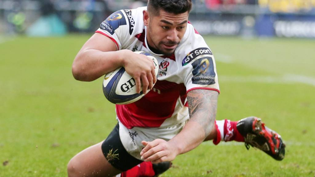 Charles Piutau scores a try against Clermont