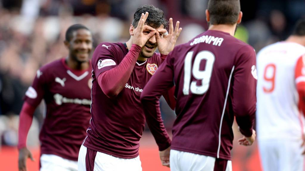 Callum Paterson was on target for Hearts