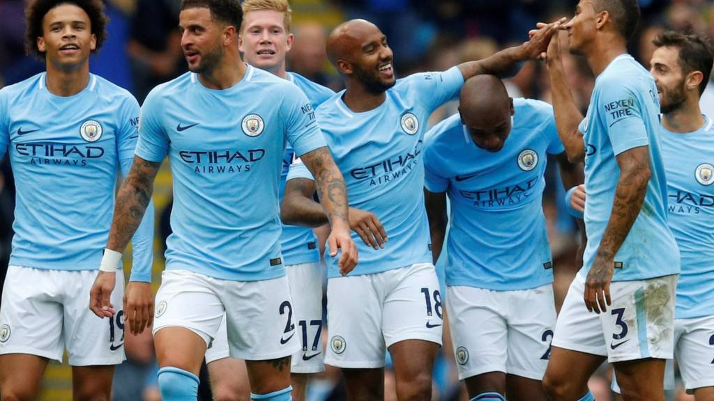 Image result for man city 5-0 palace september 2017
