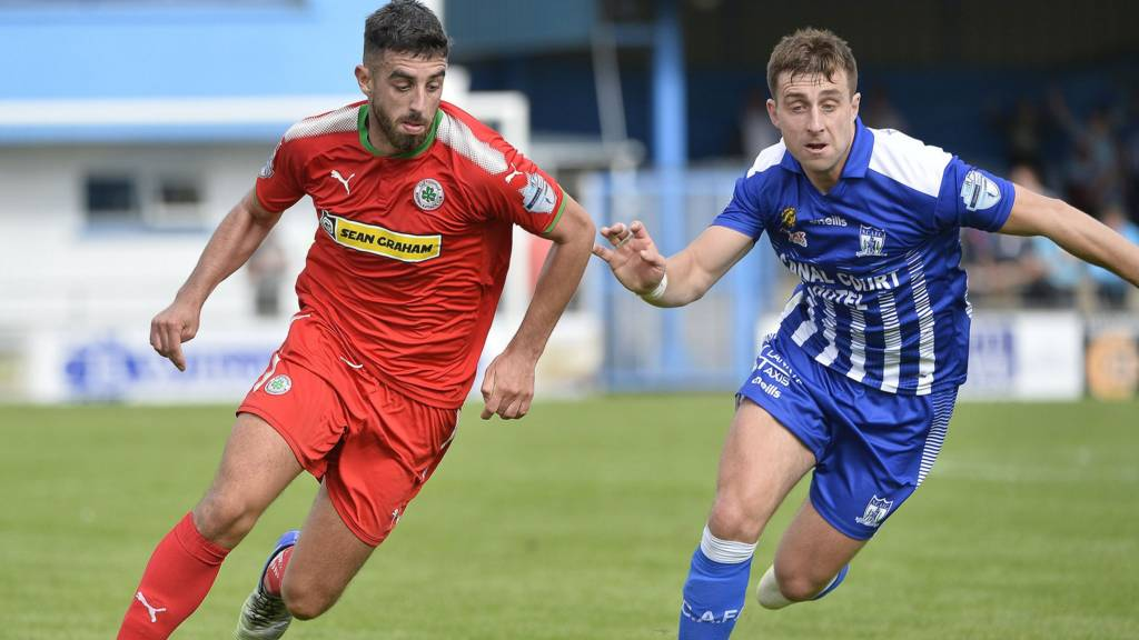 Action from Cliftonville against Newry City