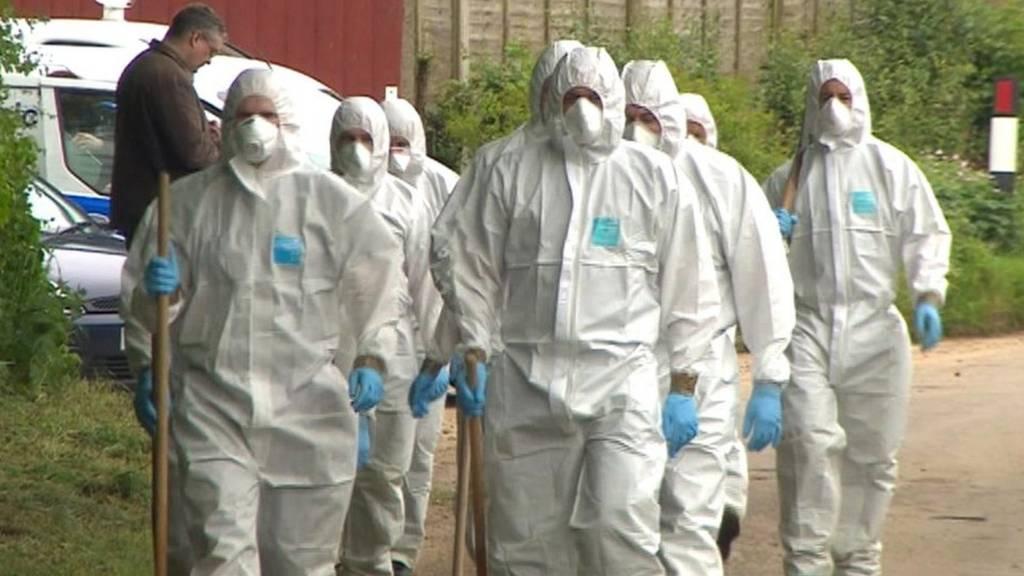Forensic teams in Weybread