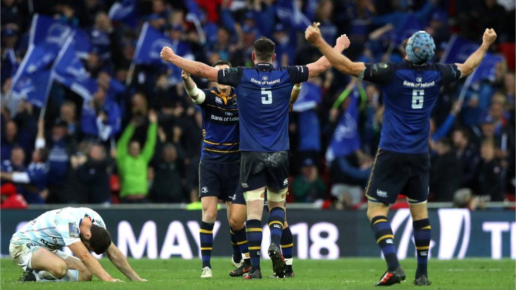 Leinster celebrate victory