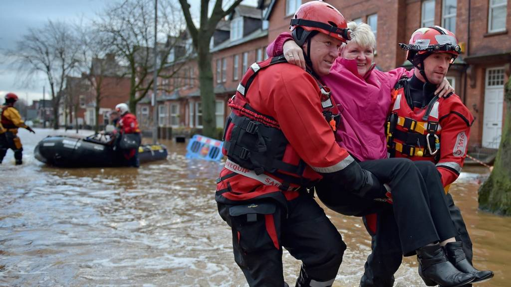 Woman rescued