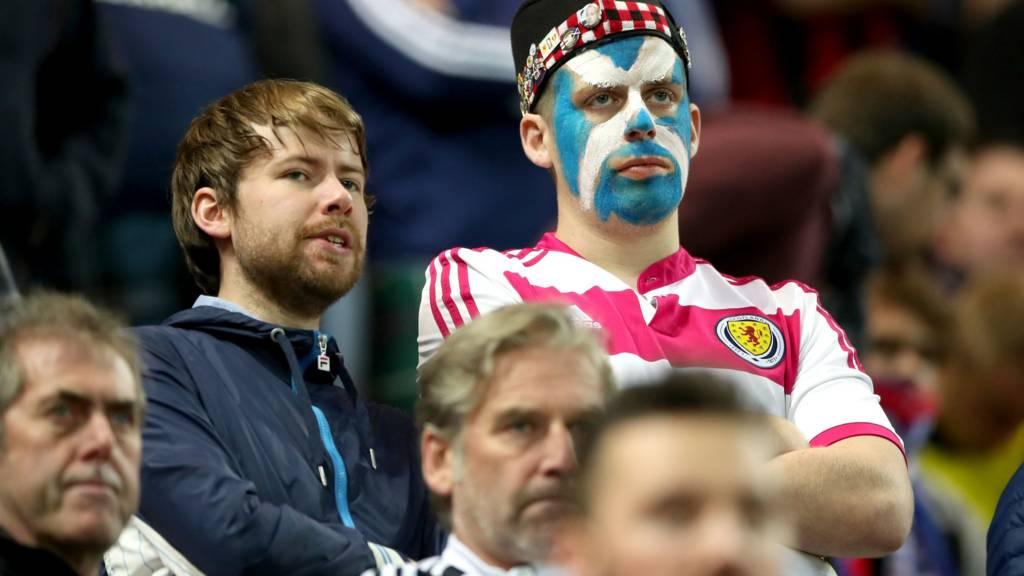 Scotland supporters in Slovakia