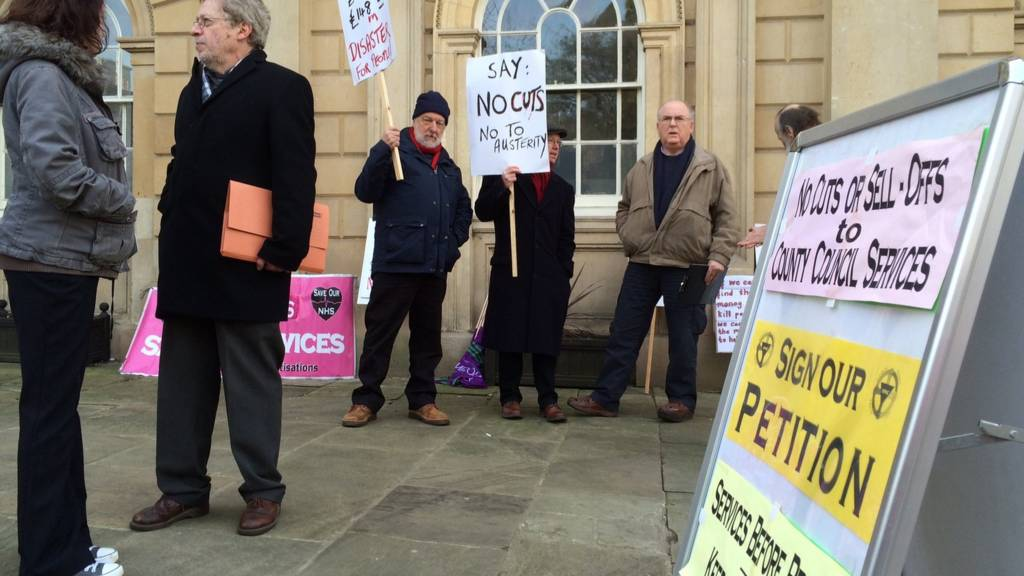County council protest