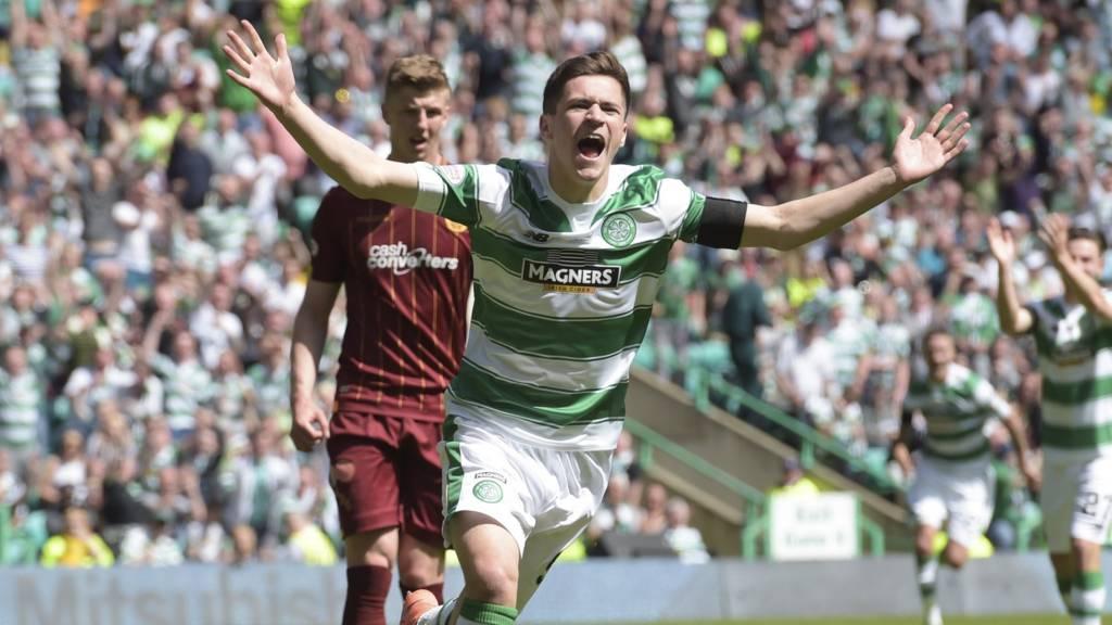Jack Aitchison celebrates his debut goal