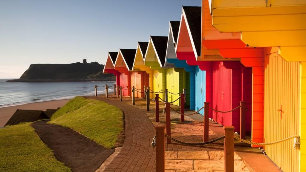 Beach huts at Scarborough