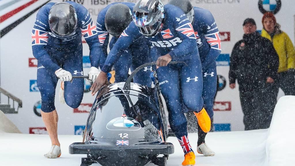 GB fourman bobsleigh push