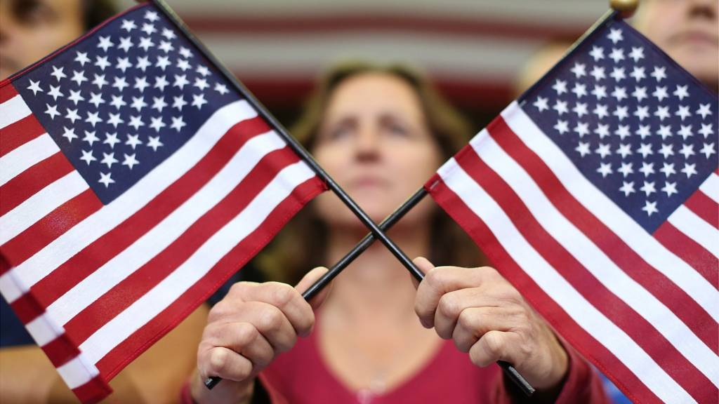 Two US flags