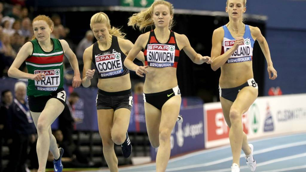 The women's 1500m heats at the British Indoor Championships