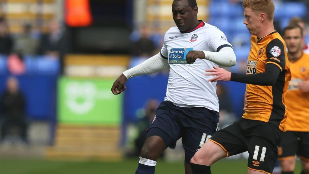 Bolton striker Emile Heskey HERO