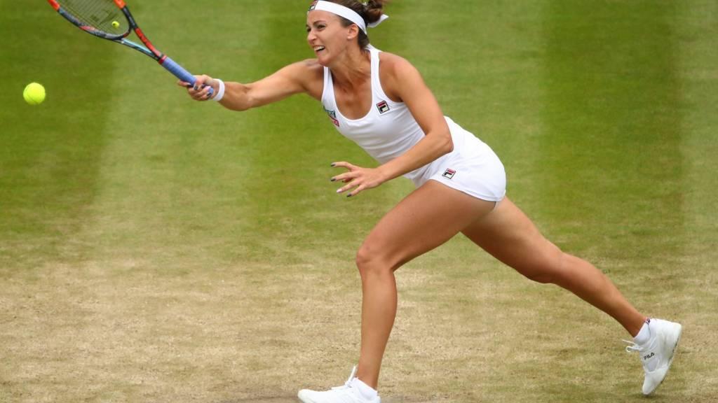 Yaroslava Shvedova in action