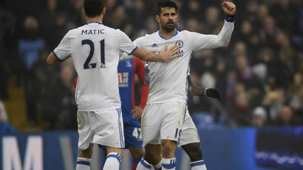 Crystal Palace 0-1 Chelsea - Costa earns Chelsea 11th straight win ... ce60995d32714