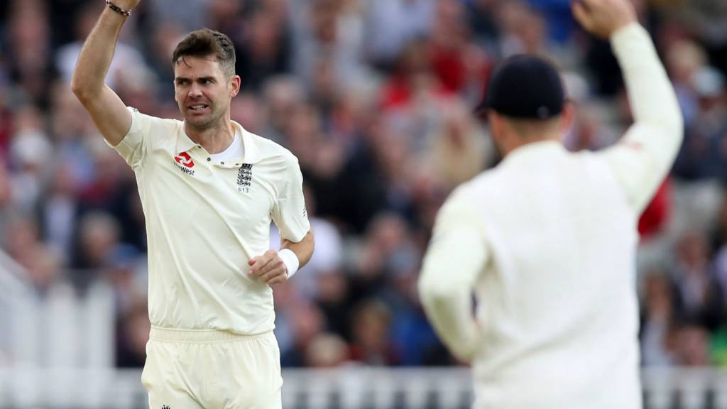 Anderson celebrates wicket
