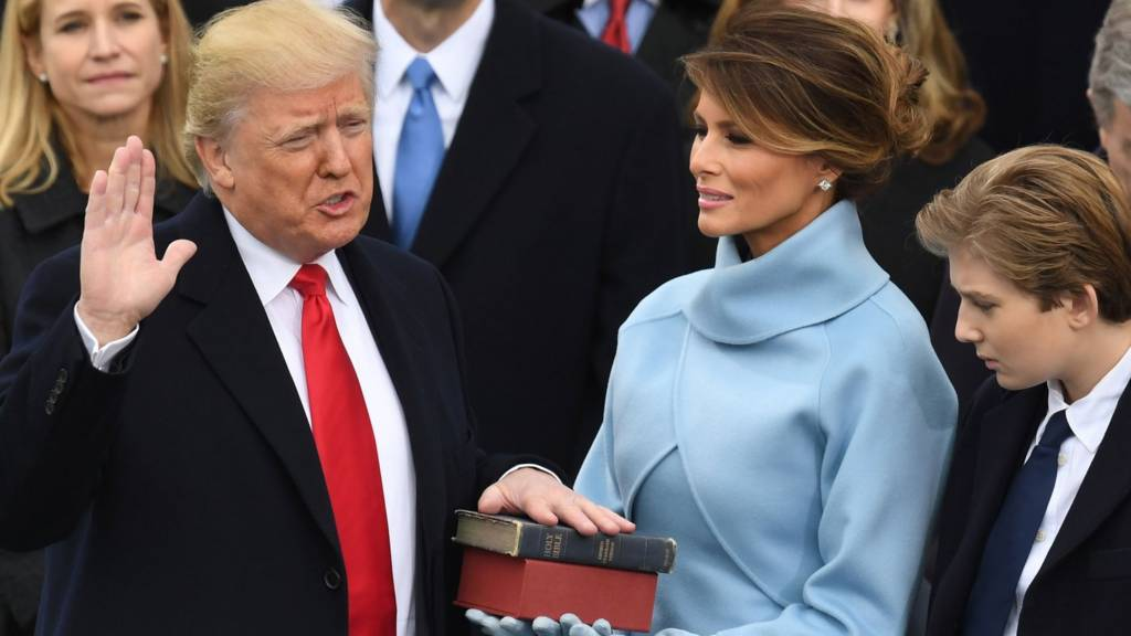Donald Trump et son épouse en compagnie du couple Obama