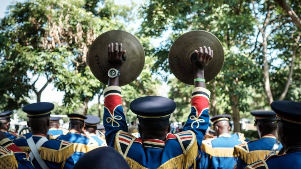 A marching band in Kenya