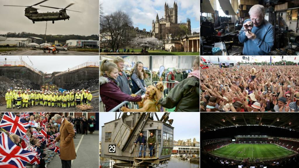 Montage of West Country scenes