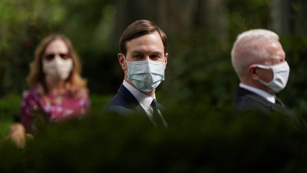 Jared Kushner in a mask